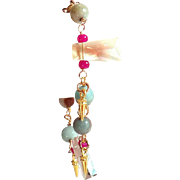 SALE Designs by Ali Gold Filled with Light Champagne Quartz, Hot Pink Glass and Amazonite ...
