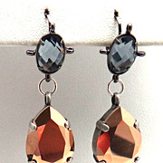 SOLD Designs by Ali Gun Metal, Grey Glass and Rose Gold Swarovski