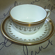 Cauldon, England Elegant Gold Cup/Saucer