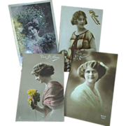 Four French postcards, Ste. Anne, Catherine +