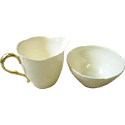 Paragon China cream and sugar, 1930s