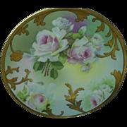 Royal Austria Roses plate, 1900-18