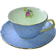 Shelley Blue Oleander cup & saucer