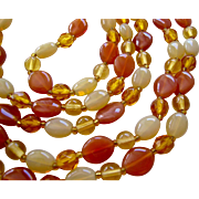 Sunny Glass Bead Necklace 44 Inches Endless