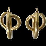 """SALE 14K Gold """"Loop de Loop"""" Earrings Bold Fun"""