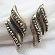 SALE Early Los Castillo Sterling Silver 925 Earrings Screw Back