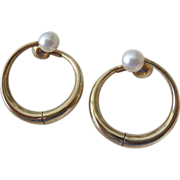 SALE 14K Gold Reversible Clip Earrings 7.6 Grams