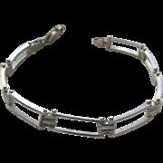 Sterling Silver 925 Gate Bracelet Italy