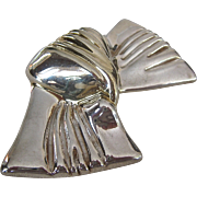 SALE Huge Frederic Jean Duclos Sterling Silver 925 Bow Brooch