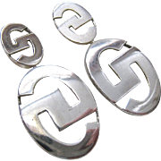 Sterling Silver 925 Dangle Earring Interesting Design