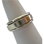 Sterling Silver 925 Spinner Band Ring Unisex