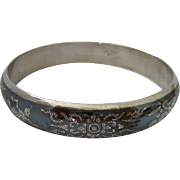 Siam Sterling Silver 925 Bangle Bracelet Intricate Design