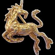 Alva Museum Replica Gold Tone Unicorn Pin