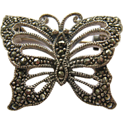 Sterling Silver 925 Marcasite Butterfly Pin