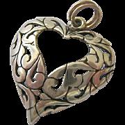 SALE Sterling Silver 925 Jezlaine Heart Pendant