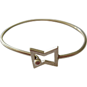 Sterling Silver 925 Hook-On Bangle Bracelet