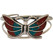 Sterling Silver 925 Butterfly Cuff Bracelet