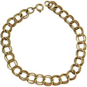 12K Gold Filled Double Link Starter Charm Bracelet