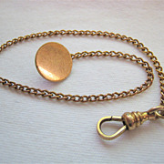 SALE Bates & Bacon B & B Watch Chain Gold Filled 9 Inches