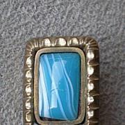 Pretty Victorian Pin / Brooch w/ Colored Glass