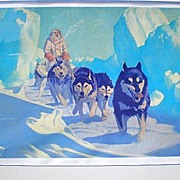 """Magnificent """"Fred Machetanz (1908-2002)"""" Signed / Numbered Lithograph"""