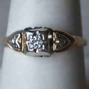Beautiful 14k Gold and Diamond Ring