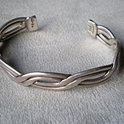 Gorgeous Sterling Silver Taxco Cuff Bracelet