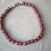 Fabulous Red African Trade Bead Necklace