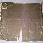 SOLD Marvelous Whiting and Davis Gold Mesh Halter / Blouse