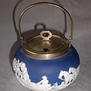 Fabulous Adams Japserware Jam Pot with Hunt Scene