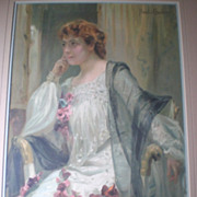 """REDUCED Vintage 1905 """"Paul Chabas"""" Advertising Lithograph Poster"""