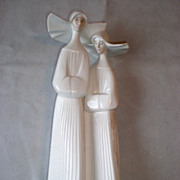 "Fabulous Retired Lladro ""Two Nuns"" Figurine"