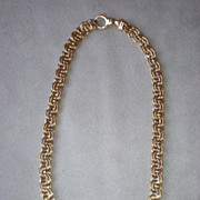 """Gorgeous 14k Yellow Gold Fancy Link 16"""" Necklace"""