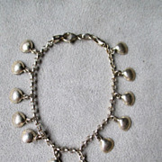 Very Cute Sterling Silver Shell Charm Bracelet