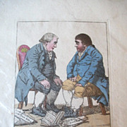 1798 English Engraving in Colors -  Richard Dighton