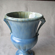 Roseville Imperial II Blue Vase with Handles
