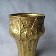 Leon Kann Gilded Bronze Art Nouveau Vase