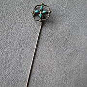 Vintage Hand Made Native Turquoise Stick Pin