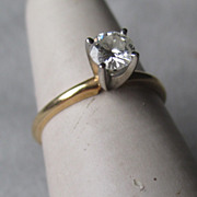 14k Gold and 0.25 carat Diamond Solitaire Ring