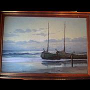 Original Dutch Oil Seascape Painting - H.J. Wijngaard