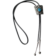 Fabulous Silver and Turquoise Bolo Tie