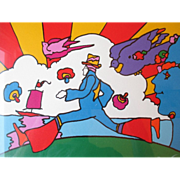 """Signed/ Numbered Serigraph by """"Peter Max (1937)"""" - Cosmic Runner"""