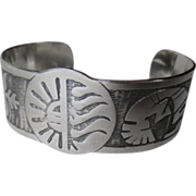 Gorgeous Mexican Sterling Silver Cuff Bracelet