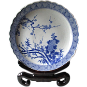 Antique Japanese Blue & White Imari Charger