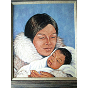 "Listed Canadian Artist ""Mona Thrasher (192-)"" Portrait Painting"