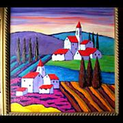 "Original Oil Painting by Russian Artist ""Alexander Khomsky"""