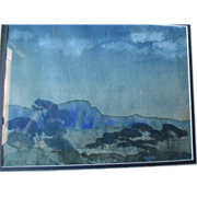"Original ""Arthur B. Davies (1862-1928)"" Watercolor Painting"