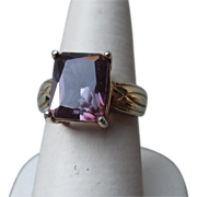 Sterling and Lab Created Alexandrite Ring