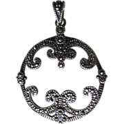Sterling Silver and Marcasite Pendant