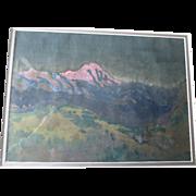 Original Watercolor Painting - Mount Blanc